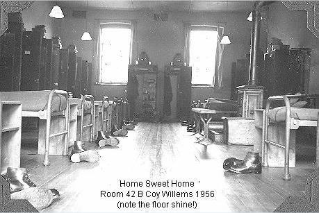 Room 42 B Coy Willems Barracks 1956
