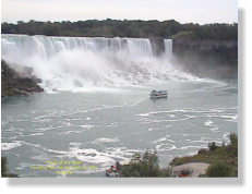 """Maid of the Mist"" below the Horseshoe Falls"